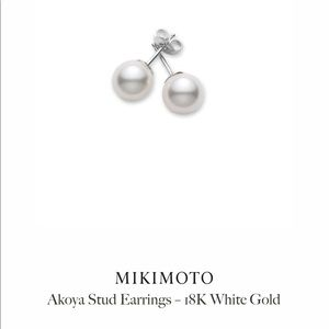 Mikimoto akoya pearl earrings